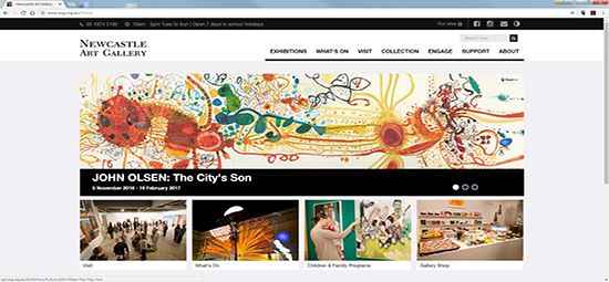 New website for Newcastle Art Gallery
