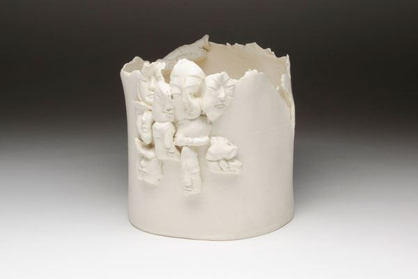 Koichi ANDO White Work n.d hand-built form, high-fired semi-porcelain 24.0 x 25.0 x 24.0cm Gift of members of the Sodeisha Group 1981 Newcastle Art Gallery collection