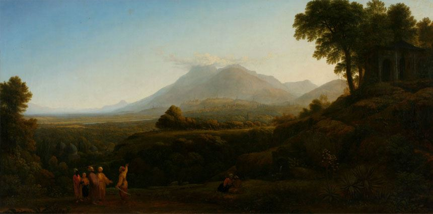 John GLOVER View of Mount Olympus and town of Brusa 1813 oil on canvas 89.0 x 220.8cm Purchased with assistance from the Newcastle Morning Herald 1971 Newcastle Art Gallery collection