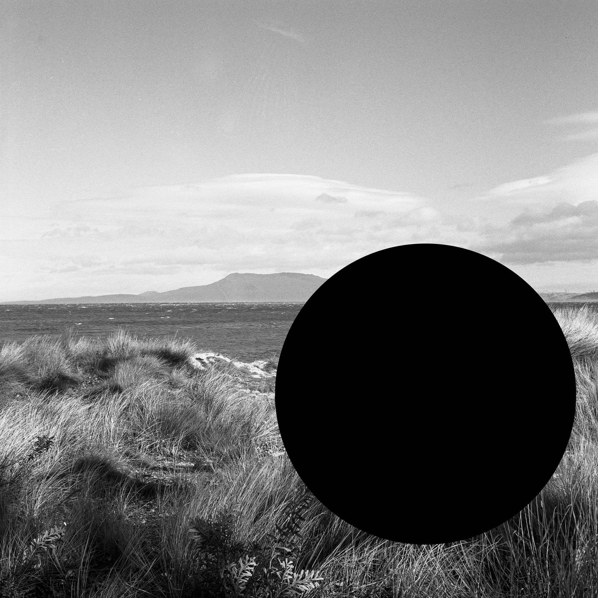James Tylor, '(Deleted Scenes) From an Untouched Landscape #7 Knocklofty Reserve, West Hobart, Palawa Land', 2013, Inkjet print on hahnemühle paper with hole removed to a black velvet void, 63 x 63 cm framed. Courtesy the artist and UTS Art Collection